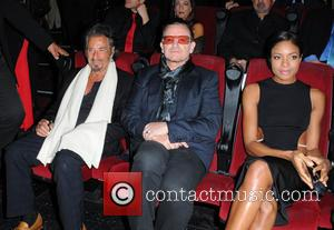 Bono, Al Pacino and Naomie Harris