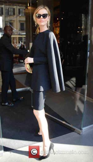Eva Herzigova - Milan Fashion Week Womenswear Autumn/Winter 2014 - Dolce & Gabbana - Outside Arrivals - Milan, Italy -...