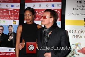 Naomie Harris and Bono