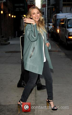 Kaley Cuoco - Celebrities arrive outside the Ed Sullivan Theater, for the taping on the Late Show with David Letterman....