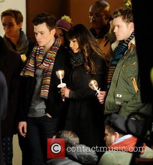 Lea Michele, Chord Overstreet and Chris Colfer