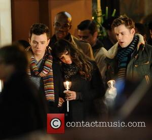 Lea Michele, Chris Colfer and Chord Overstreet -