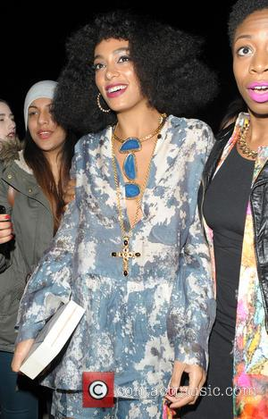 Solange Knowles - Paris Fashion Week Autumn/Winter 2014 - H&M - Celebrity Sightings at Grand Palais - Paris, France -...