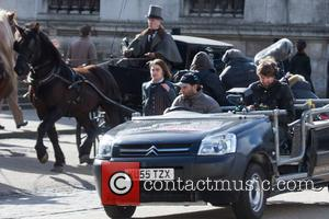 Daniel Radcliffe - Daniel Radcliffe shooting scenes for the film remake of 'Frankenstein' - London, United Kingdom - Wednesday 26th...