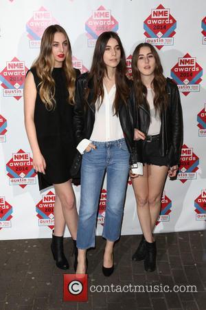 Haim, Danielle Haim, Este Haim and Alana Haim - The NME Awards 2014 held at O2 Academy Brixton - Arrivals...