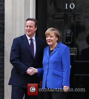David Cameron , Angela Merkel - German Chancellor Angela Merkel visit Prime Minister David Cameron at Downing Street at 10...