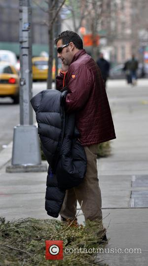 Adam Sandler - Adam Sandler leaving his hotel - Manhattan, New York, United States - Thursday 27th February 2014