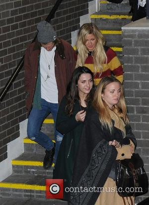 Ellie Goulding and Dougie Poynter - Ellie Goulding and rumoured boyfriend Dougie Poynter are seen leaving the ITV studios before...