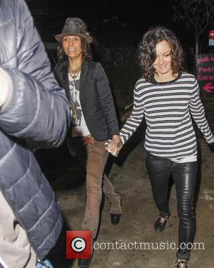 Sarah Gilbert and Linda Perry - Annie Leibovitz Book Launch and Pre Oscar Party held at Chateau Marmont - West...