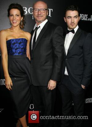 Kate Beckinsale, Paul Haggis and Kevin Jonas