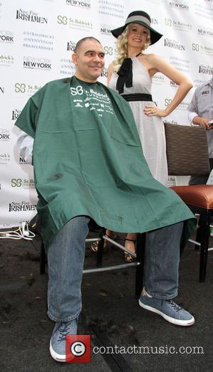 Holly Madison and John Katsilometes - 5th Annual St. Baldrick's Day head-shaving event benefiting The St. Baldrick's Foundation held at...
