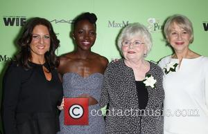 Women In Film President Cathy Schulman, Lupita Nyong'o, Julie Delpy and Helen Mirren