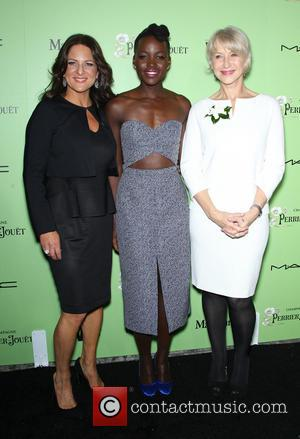 Women In Film President Cathy Schulman, Lupita Nyong'o and Helen Mirren