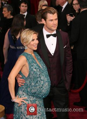 Chris Hemsworth and Elsa Pataky - The 86th Annual Oscars held at Dolby Theatre - Red Carpet Arrivals - Los...