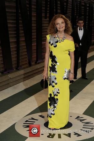 Diane von Furstenberg - 2014 Vanity Fair Oscar Party held at Sunset Tower in West Hollywood - Los Angeles, California,...