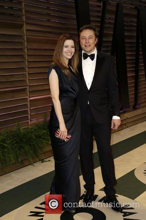 Elon Musk and Talulah Riley - 2014 Vanity Fair Oscar Party held at Sunset Tower in West Hollywood - Los...