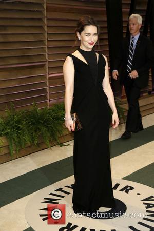 Emilia Clarke - 2014 Vanity Fair Oscar Party held at Sunset Tower in West Hollywood - Los Angeles, California, United...