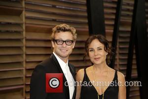 Simon Baker and Rebecca Rigg - 2014 Vanity Fair Oscar Party held at Sunset Tower in West Hollywood - Los...