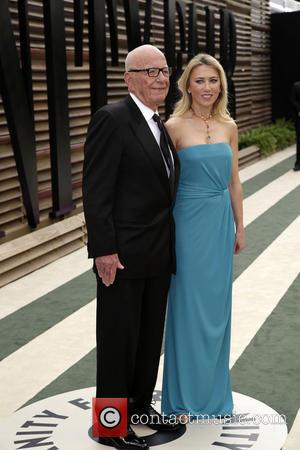 Rupert Murdoch and Guest - 2014 Vanity Fair Oscar Party held at Sunset Tower in West Hollywood - Los Angeles,...