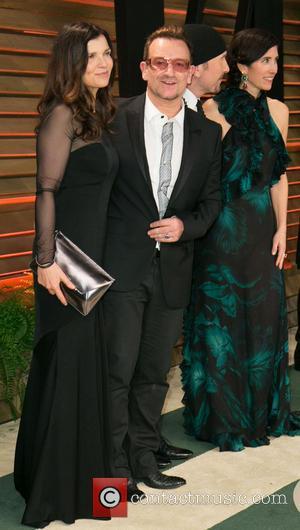 Bono, Ali Hewson, Choreographer Morleigh Steinberg, The Edge and Vanity Fair