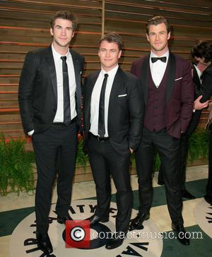 Liam Hemsworth, Luke Hemsworth and Chris Hemsworth - Vanity Fair Oscar Party - Arrivals - Los Angeles, California, United States...