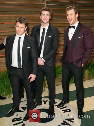 Luke Hemsworth, Liam Hemsworth and Chris Hemsworth - Vanity Fair Oscar Party - Arrivals - Los Angeles, California, United States...