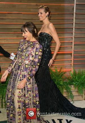 Rashida Jones and Heidi Klum