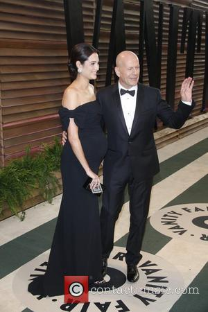 Bruce Willis and Emma Heming - Vanity Fair Oscar Party - Arrivals - Los Angeles, California, United States - Sunday...