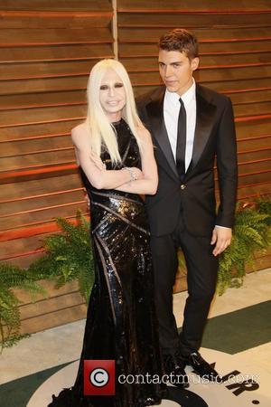 Clothing designer Donatella Versace and actor Nolan Gerard Funk - Vanity Fair Oscar Party - Arrivals - Los Angeles, California,...