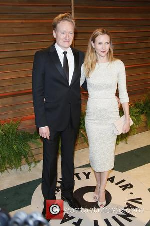Conan O'Brien and wife Liza Powel - Vanity Fair Oscar Party - Arrivals - Los Angeles, California, United States -...