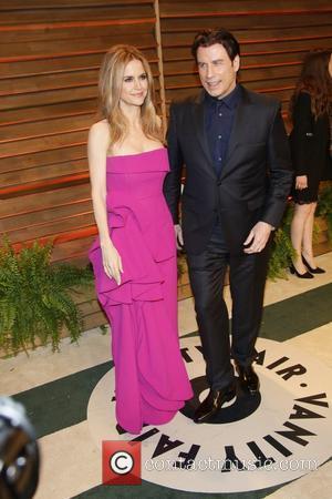 John Travolta and Kelly Preston - Vanity Fair Oscar Party - Arrivals - Los Angeles, California, United States - Sunday...
