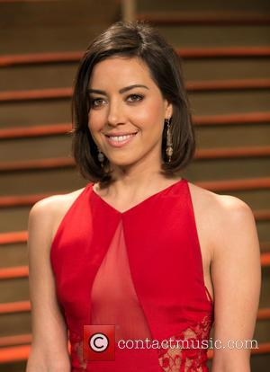 Aubrey Plaza - Celebrities attend 2014 Vanity Fair Oscar Party at Sunset Plaza. - Los Angeles, California, United States -...