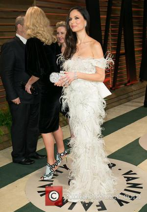Harvey Weinstein and Georgina Chapman - Celebrities attend 2014 Vanity Fair Oscar Party at Sunset Plaza. - Los Angeles, California,...