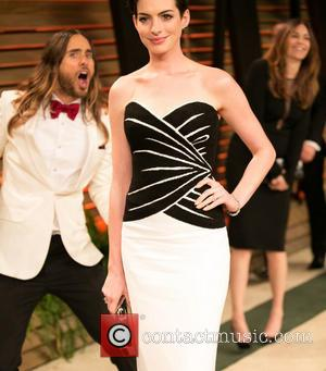 Jared Leto and Anne Hathaway - Celebrities attend 2014 Vanity Fair Oscar Party at Sunset Plaza. - Los Angeles, California,...