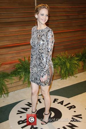 Jennifer Lawrence - Celebrities attend 2014 Vanity Fair Oscar Party at Sunset Plaza. - Los Angeles, United States - Sunday...
