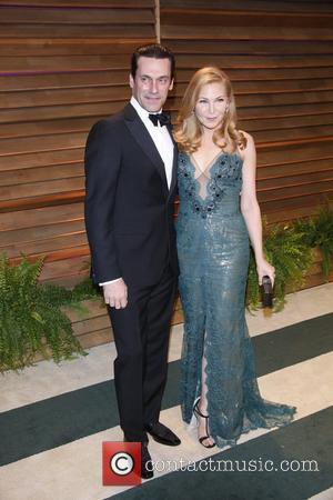 Jon Hamm and Jennider Westfeldt - Celebrities attend 2014 Vanity Fair Oscar Party at Sunset Plaza. - Los Angeles, United...