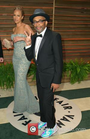 Tonya Lewis Lee and Spike Lee - Celebrities attend 2014 Vanity Fair Oscar Party at Sunset Plaza. - Los Angeles,...