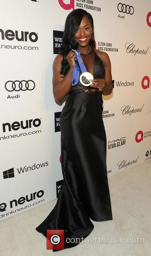 Aja Evans - 22nd Annual Elton John AIDS Foundation Academy Awards Viewing/After Party - West Hollywood, California, United States -...