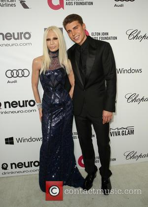 Donatella Versace and Nolan Gerard Funk - 22nd Annual Elton John AIDS Foundation Academy Awards Viewing/After Party - Arrivals -...