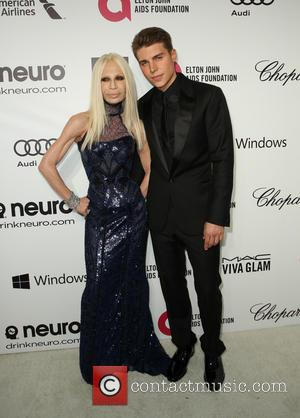 Donatella Versace and Nolan Gerard Funk