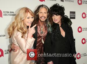 Ann Wilson, Nancy Wilson and Steven Tyler - 22nd Annual Elton John AIDS Foundation Academy Awards Viewing/After Party - Inside...