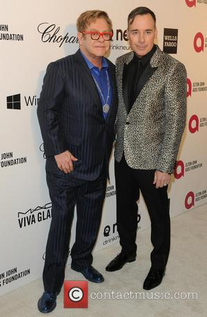 Elton John and David Furnish - Elton John Aids Foundation presents 22nd Annual Academy Awards viewing party - Arrivals -...