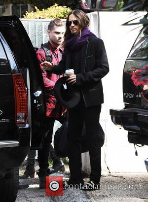 Jared Leto and Shannon - Actor Jared Leto emerges after winning an oscar last night for best supporting actor on...