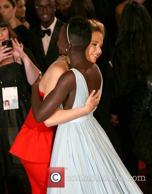 Lupita Nyong'o and Jennifer Lawrence