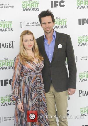 David Walton and Majandra Delfino - The 2014 Film Independent Spirit Awards arrivals - Los Angeles, California, United States -...