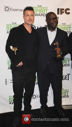 Brad Pitt and Steve McQueen - The 2014 Film Independent Spirit Awards pressroom - Los Angeles, California, United States -...