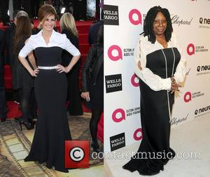 Julia Roberts and Whoopi Goldberg - Julia Roberts at Golden Globes 2014 vs. Whoopi Goldberg at Oscars 2014: Who wore...