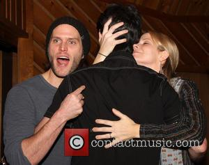 Steven Pasquale, Jason Robert Brown and Kelli O'Hara - Recording Session for Broadway's The Bridges of Madison County held at...