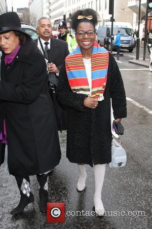Floella Benjamin - Nelson Mandela memorial service at Westminster Abbey - London, United Kingdom - Monday 3rd March 2014
