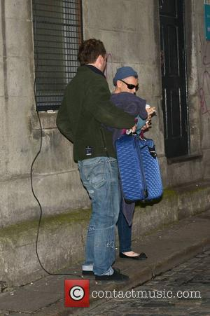 Sinead O'Connor - Singer Sinead O'Connor arrives at The Olympia Theatre to sing backing vocals for John Grant at his...
